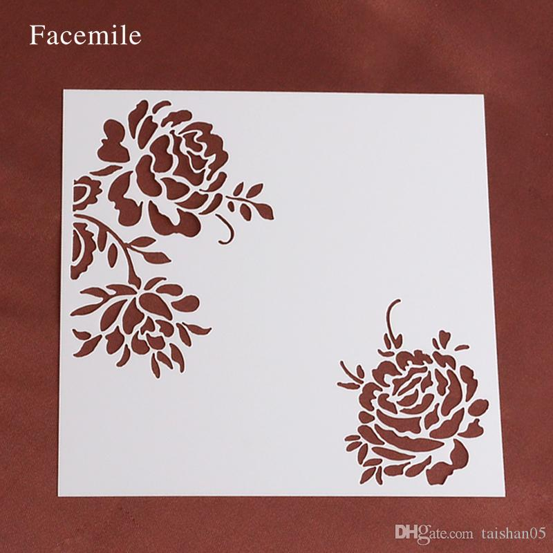 Facemile Rose Stencil Gift Stencil, Wedding Gift Decorating Stencil,  Stencils for Decoration