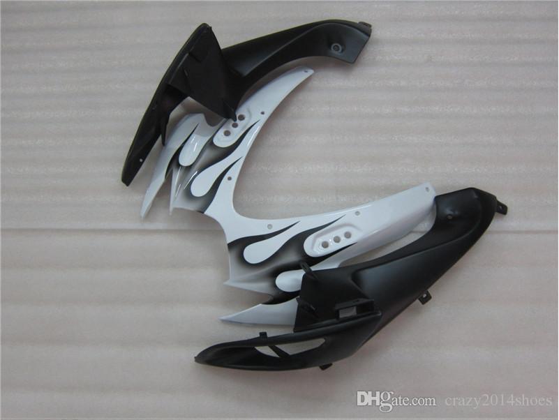 Free gifts+Seat Cowl New bike Fairing Kits For SUZUKI GSXR 600 750 K6 06 07 GSXR-600 GSXR750 GSXR600 GSXR-750 2006 2007 white black flame