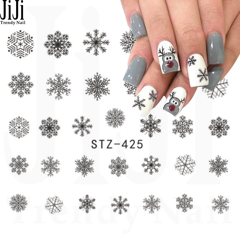 Wholesale Jiji Trendy Nail 1 Sheet Different Designs Christmas Grey ...