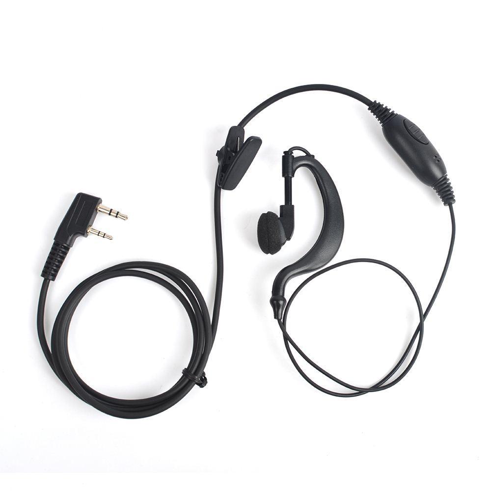 2017 Classic Black G Type Headset Earplugs 2 Pin Kenwod Baofeng ...