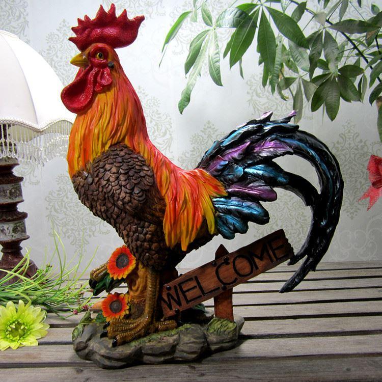 cazzo fortunato Gallo gallina ornamenti di buon auspicio artigianato europee animali di alta qualità e regali di male male