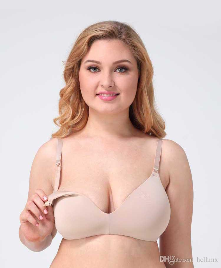 beb3f31d27 2019 American Europe Seamless Maternity Nursing Bra For Pregnant Skin Color  Women Wireless Breastfeeding No Wire 80E Bra From Hclhmx