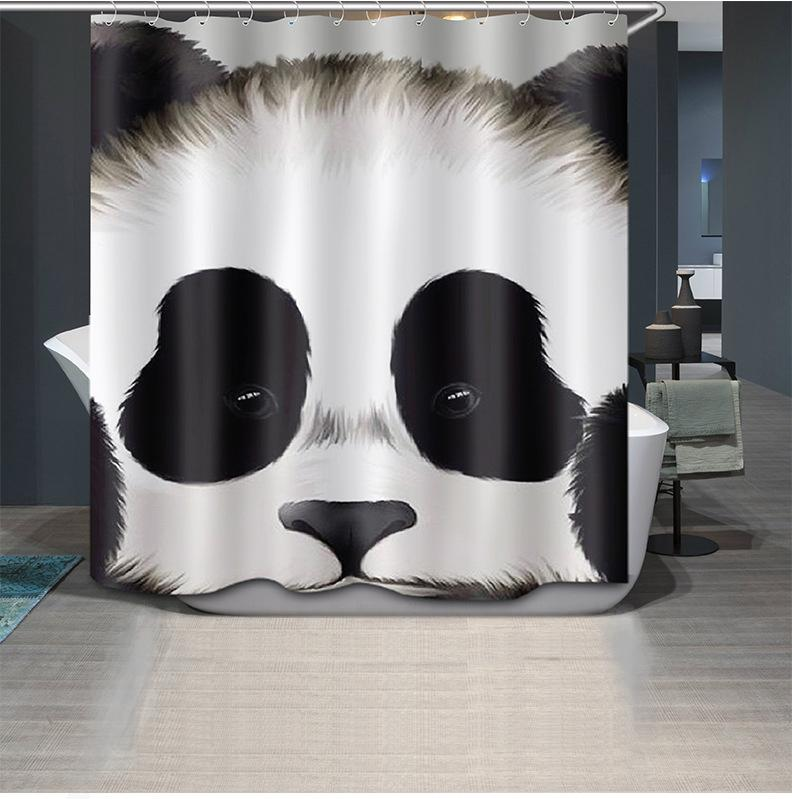 2019 Wholesale 3D Printing Cute Panda Shower Curtains Unique Cool Curtain For Bathroom From Bdhome 5334