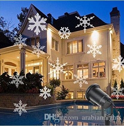 indoor outdoor led spotlight automatically led moving snowflake led lamp home decorations for festival wedding party ac 110 240v outdoor christmas lights - Moving Outdoor Christmas Decorations