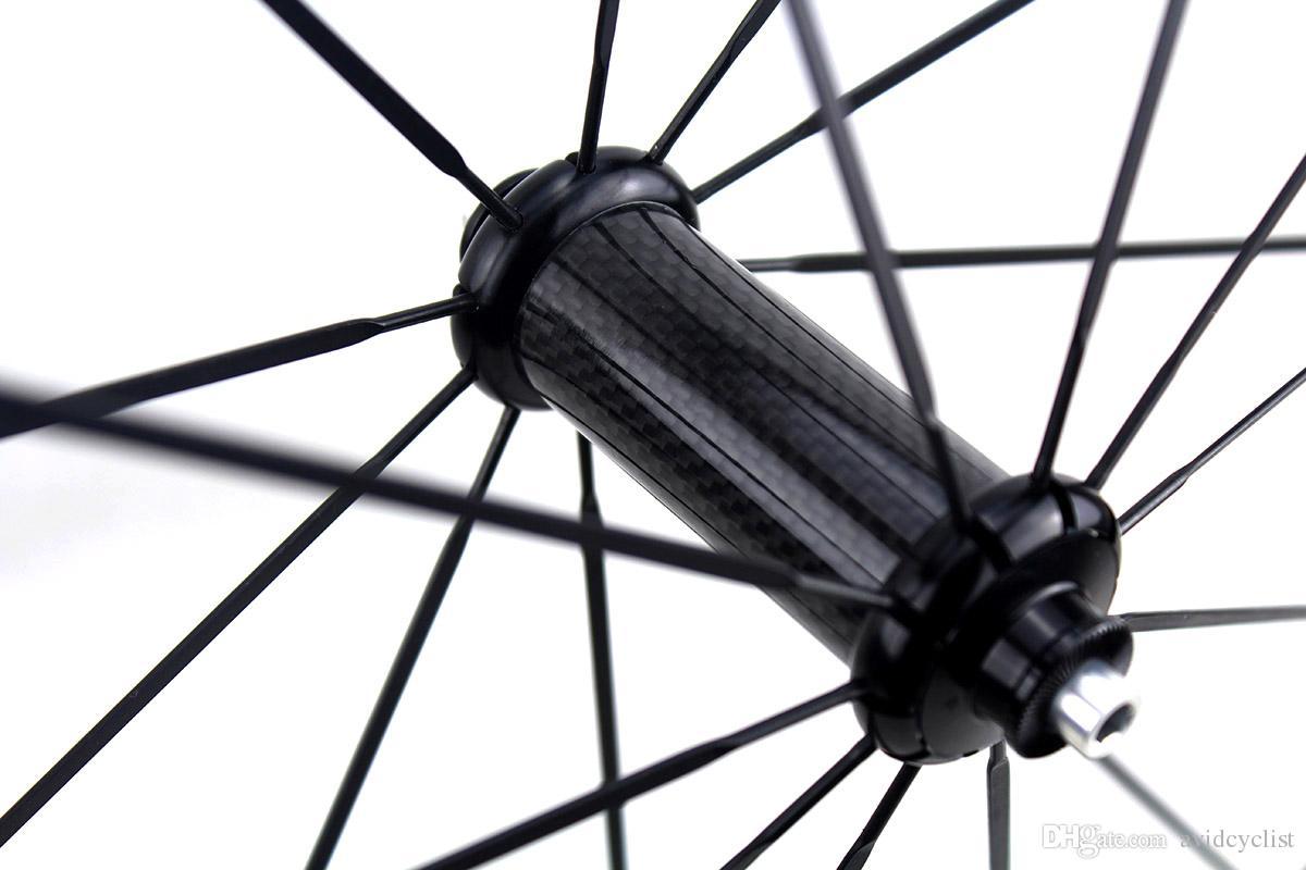ruedas de bicicleta de carretera de carbono FFWD blanco calcomanías 50mm Powerway Hub R36 recta tirar de basalto surfce freno remachador de ruedas tubular anchura de la llanta 25mm