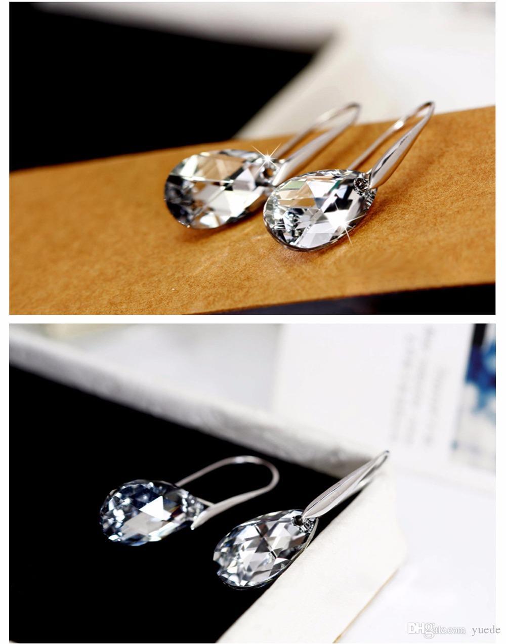 NEUE VERKAUF 925 Sterling Silber 100% Original Kristalle von Swarovski Bella Mini Piercing Ohrringe Fashion Ohrstecker