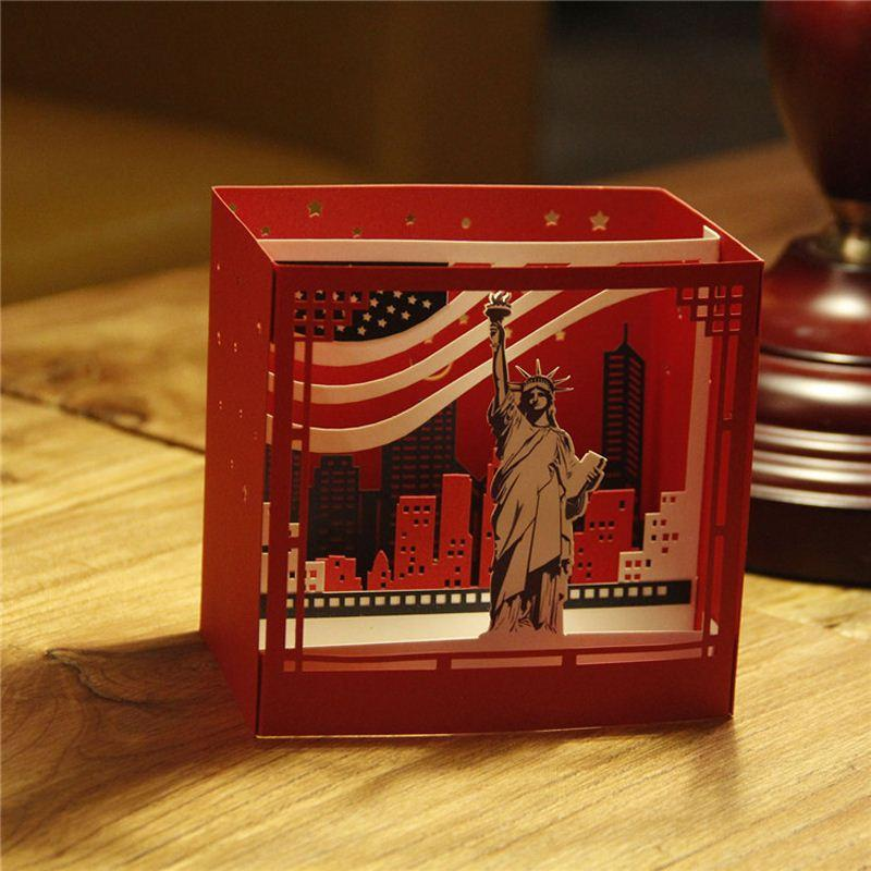 3d pop up kirigami laser cut vintage statue of liberty greeting 3d pop up kirigami laser cut vintage statue of liberty greeting cards famous city new york night view paper card make greeting card make greeting cards from m4hsunfo