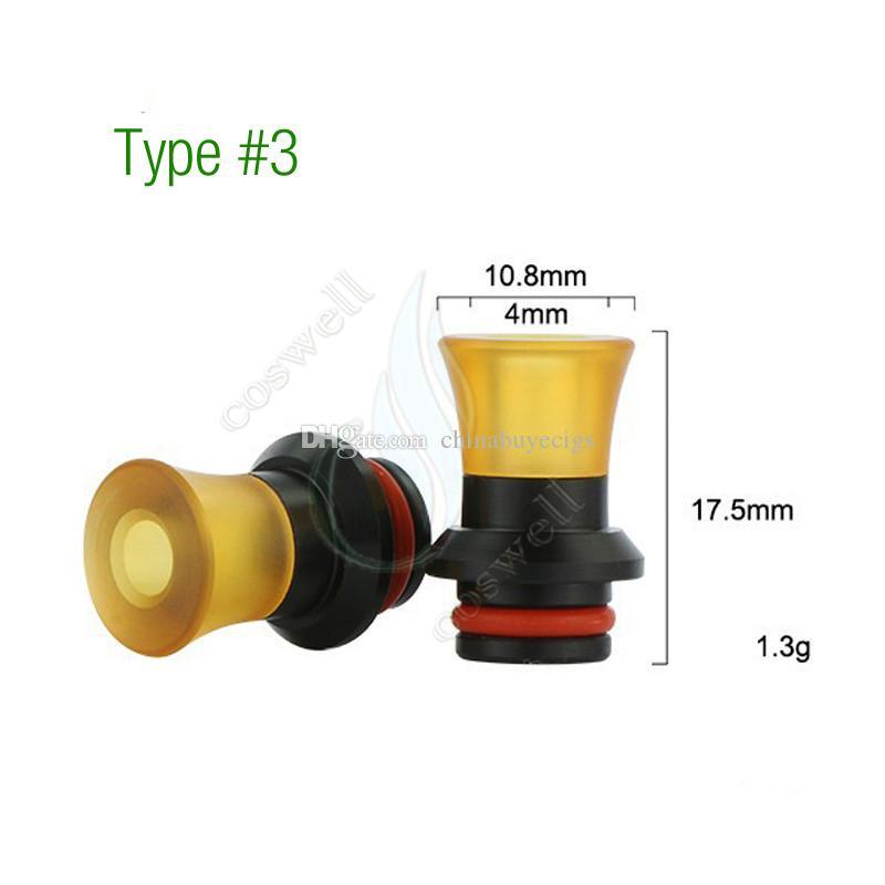 4 Types PEI POM Drip Tip 510 Wide Bore MouthPiece Plastic Raw Material Replacment e cig cigarette vapor Atomizers RDA RDTA RTA tank tips DHL