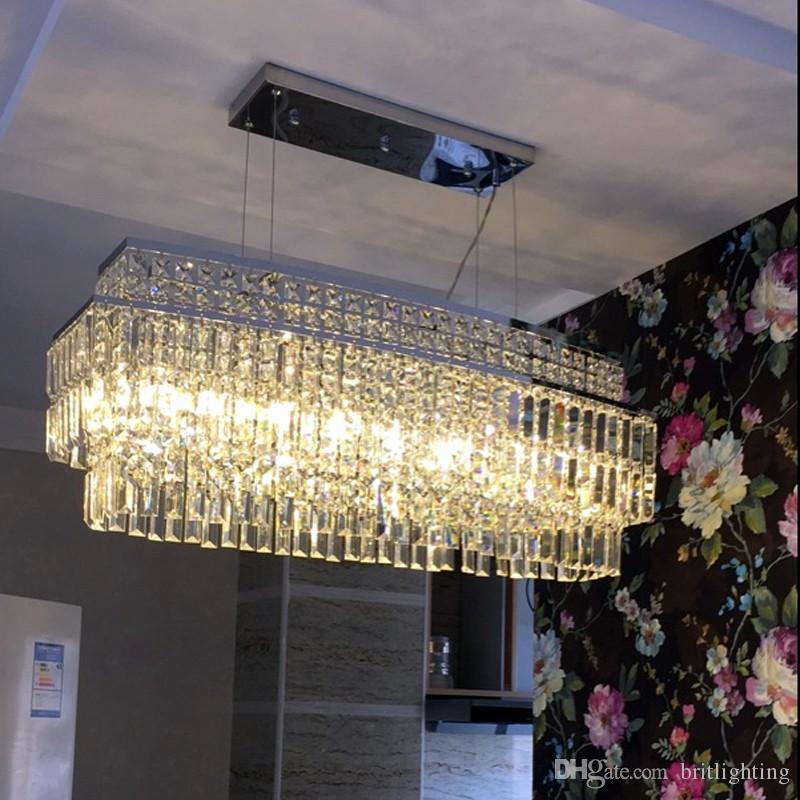 Grosshandel Zeitgenossische Kristall Cafe Licht Leuchte Esszimmer