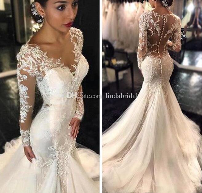 Großhandel 2017 Gorgeous Brautkleider Dubai Afrikanische Arabische ...