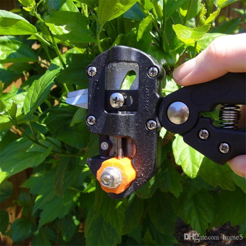 Hot Bonne machine à greffer avec 2 lames Outils de greffage d'arbres Sécateur Ciseaux Vaccination Couteau Sécateur Sécateur