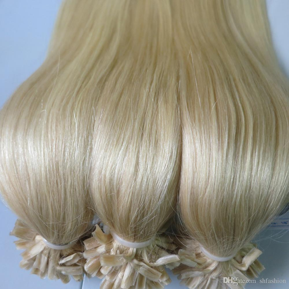 U Tip Pre Bonded Hair Extensions 18 Straight Hot Fusion Keratin