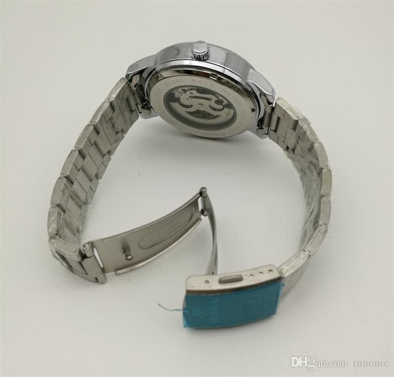 Автоматические механические часы завод прямые мужские из нержавеющей стали полые часы Гуанчжоу мода бренд MUONIC копия часы