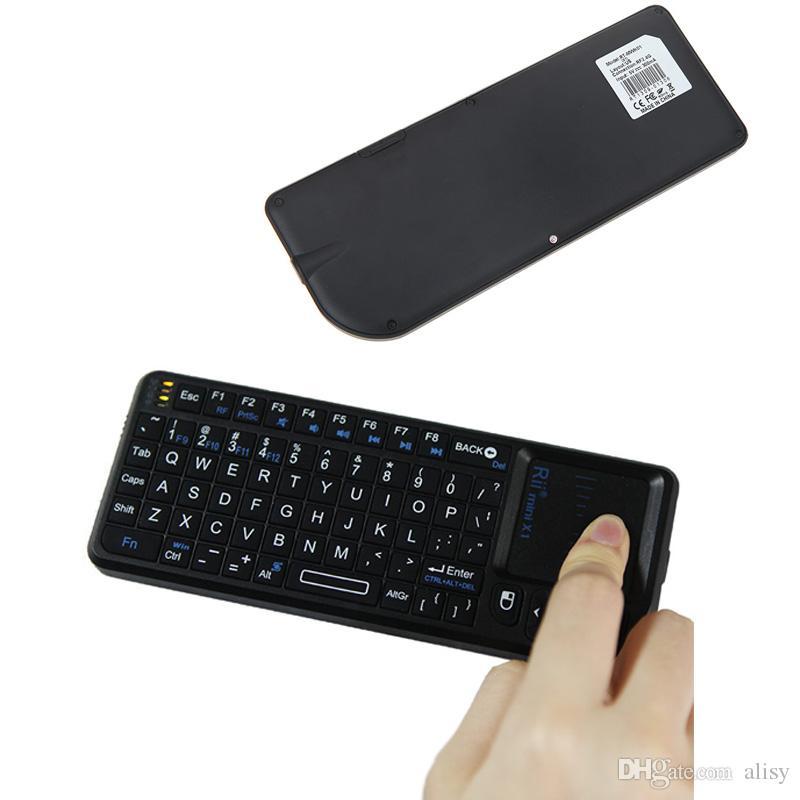 Rii 미니 X1 에어 마우스 노트북 2.4G 무선 키보드 터치 패드 에어 마우스 게이밍 키보드 노트북 스마트 TV 안드로이드 TV 박스