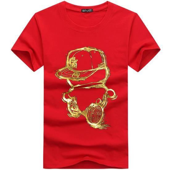 Mens T Shirts Moda 2016 Verano Casual Patchwork impresión de la corona Camisa de los hombres Slim Fit para hombre T-shirt Plus Size S-5XL Envío Gratis