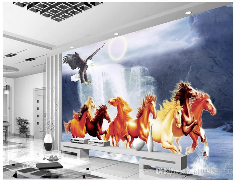 Personalizada moderna minimalista foto mural wallpaper Ocho primavera mapa noche cascada mural arte abstracto pared peper dormitorio decoración de la pared