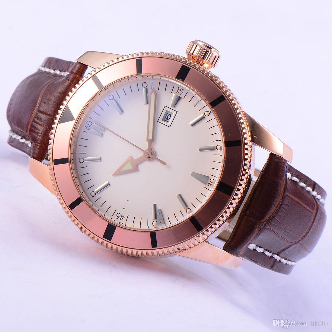 1797 Bliger 46 мм розовое золото корпус из нержавеющей стали безель автоматические мужские часы