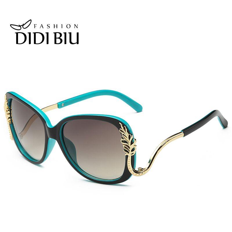 7c25140fd6 DIDI Women s Gold Leaf Shield Sunglasses Female Leaves Decrative Sun Glasses  Baroque Street Snap Luxury Eyewear Brands Points Glasses W417