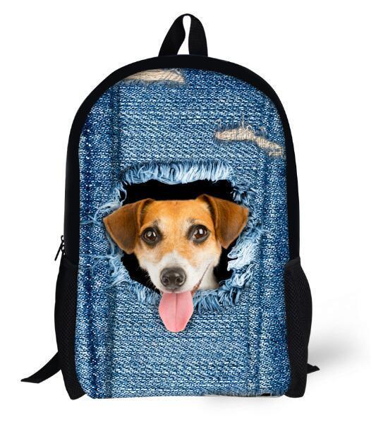 New 2017 Kawaii Animal Cat Backpack for Girls Fashion Children School Bag Cute Dog Backpack Cat Face Kids School Backpack