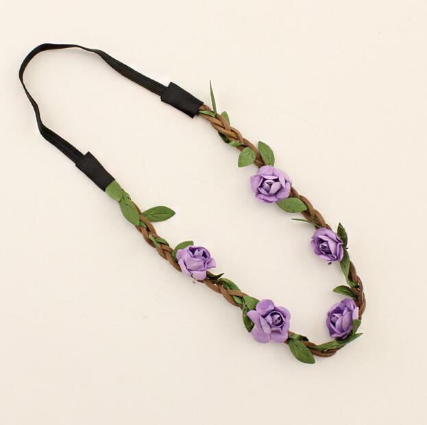 Çiçek Elastik kafa bandı Toptan Düğün Şapkalar Örgü Boho Çiçek Saç Aksesuarları Kızlar Kadınlar için Bebek Kız