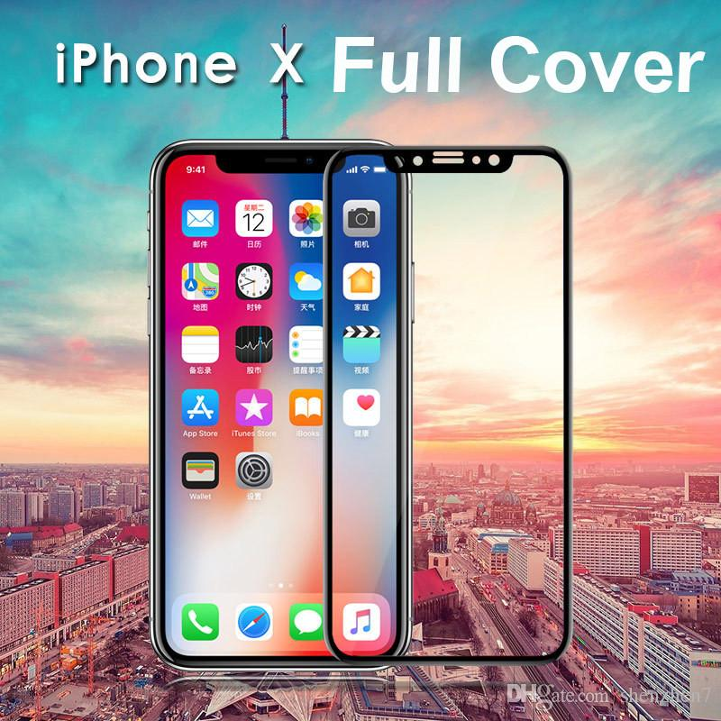 For Iphone X 8 Plus Carbon Fiber Frame Full Cover Hardness Anti