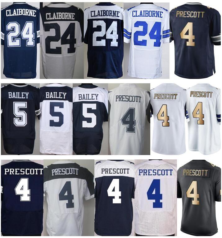 ... Wholesale 5 Dan Bailey Jersey Blue White Gold Color Rush 4 Dak Prescott  Jersey Discount 24 ... a8618808b8c