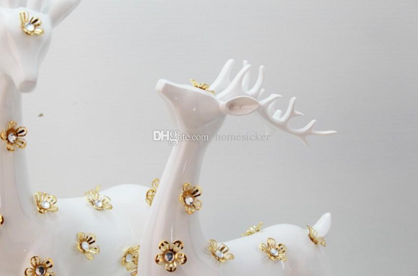 수지 수공예품 사랑의 상징 마스코트 sika 사슴 집 장식 침실 가구 용품 기사 valen을위한 결혼 선물