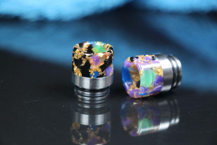 810 Thread Resin Drip Tip Colorful E Cigarette Metal Drip Tips for SMOK TFV8 TFV12 Tanks Kennedy RDA RBA RTA Atomizer