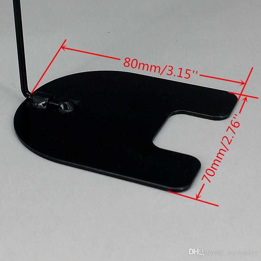 База 8X7CM поп-металл бэк исчезают ценник бумаги знак карты дисплей клипы держатели черный для магазинов акции 10 шт.