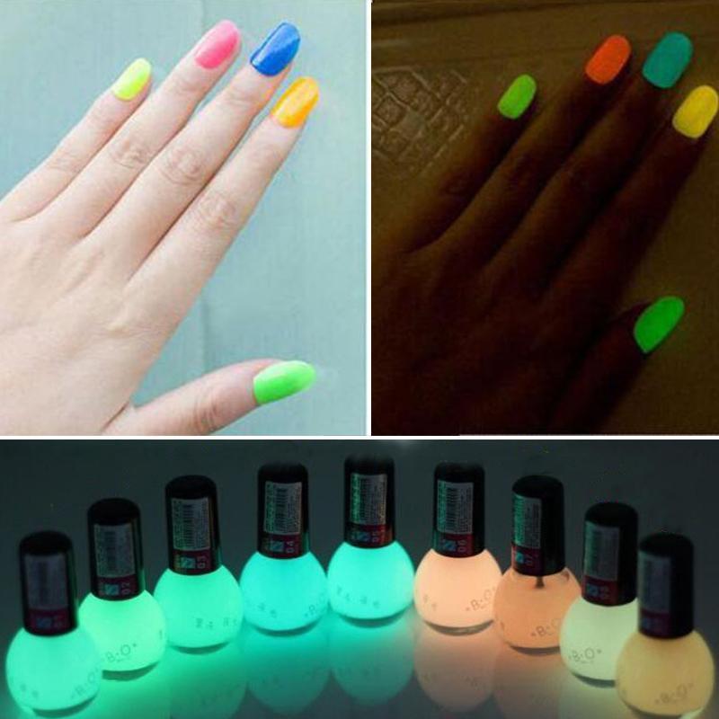 Wholesale- Luminous Non-toxic Matte Nail Polish Fluorescent Neon ...