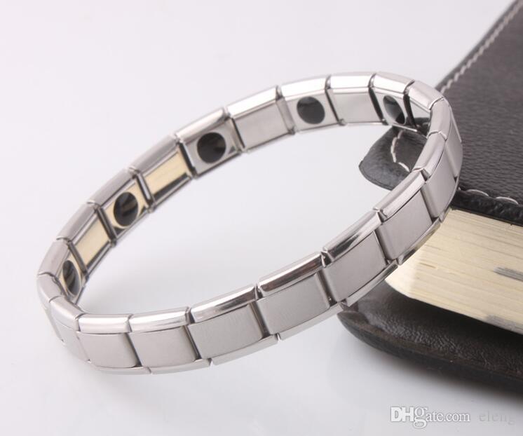 vendita calda Nuovo arrivo 10 pz braccialetto di energia titanio, nano energia magnetica germanio titanio braccialetto sollievo dal dolore potente! 50