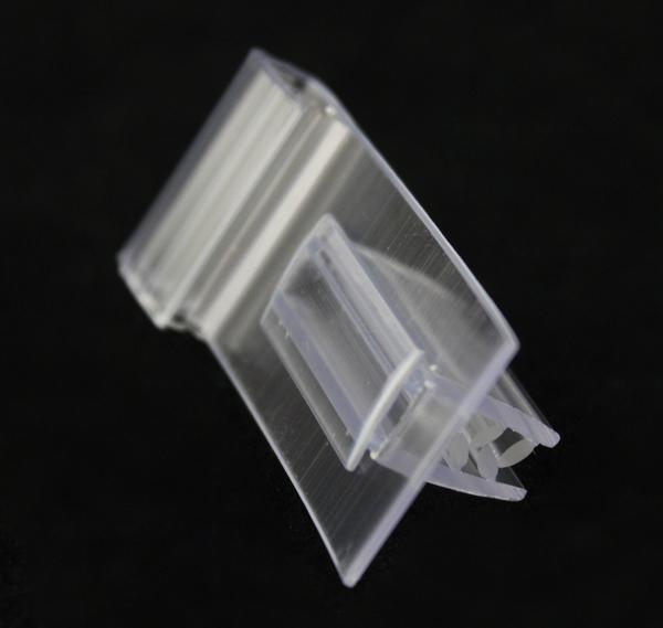 Пользовательские ПВХ полка данных полосы крюк сцепление клип поп держатель этикетки suppermarket полка продвижение знак оснастки