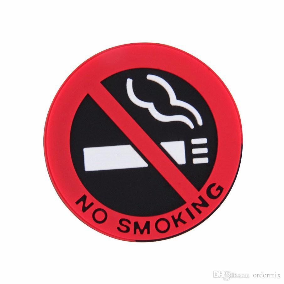 고무 NO 금연 기호 경고 로고 스티커 자동차 택시 문 데칼 배지 접착제 스티커 프로모션