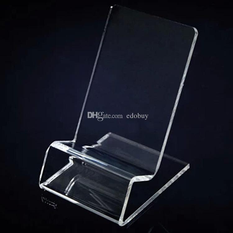 Acrílico telefone celular telefone celular expositores estande titular para 6inch iphone Samsung HTC Xiaomi Huawei sony boa venda