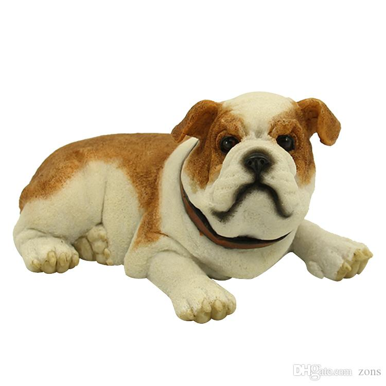 Adorable English Bulldog Figurine - Cute Lying Puppy Gift for Dog Lovers  5 6 Hot Sale Puppy Figurine top collection