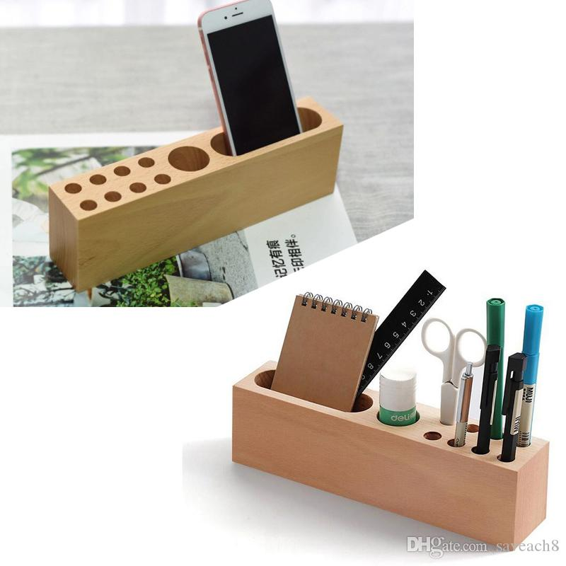 Professional Business Card Pencil Pens Smartphone Holder Case For Desk Office Accessories Storage Container Display Stand