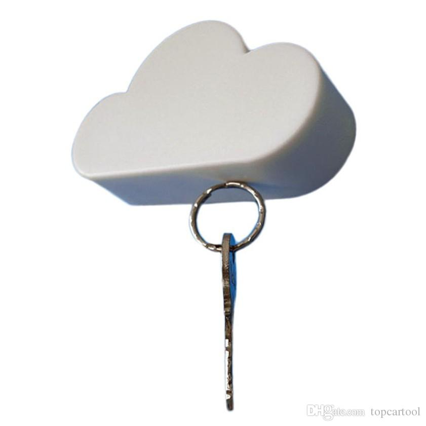 Creative Novelty Home Storage Holder White Cloud Shape Magnetic Magnets Key Holder Happy Gifts High Quality