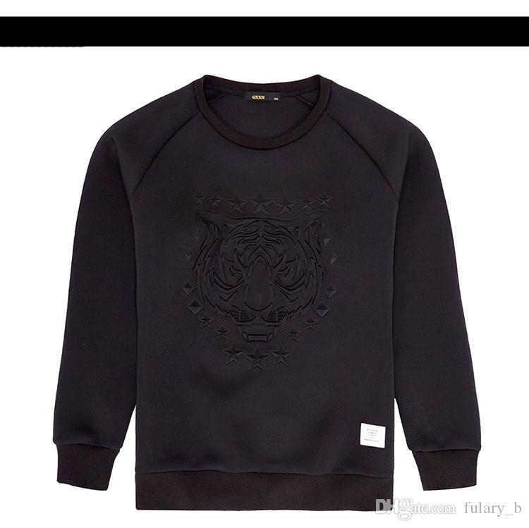 High-quality men fashion sweater Tiger sweater Hoodies couples sweater Space cotton Long-sleeved sweater plus size for
