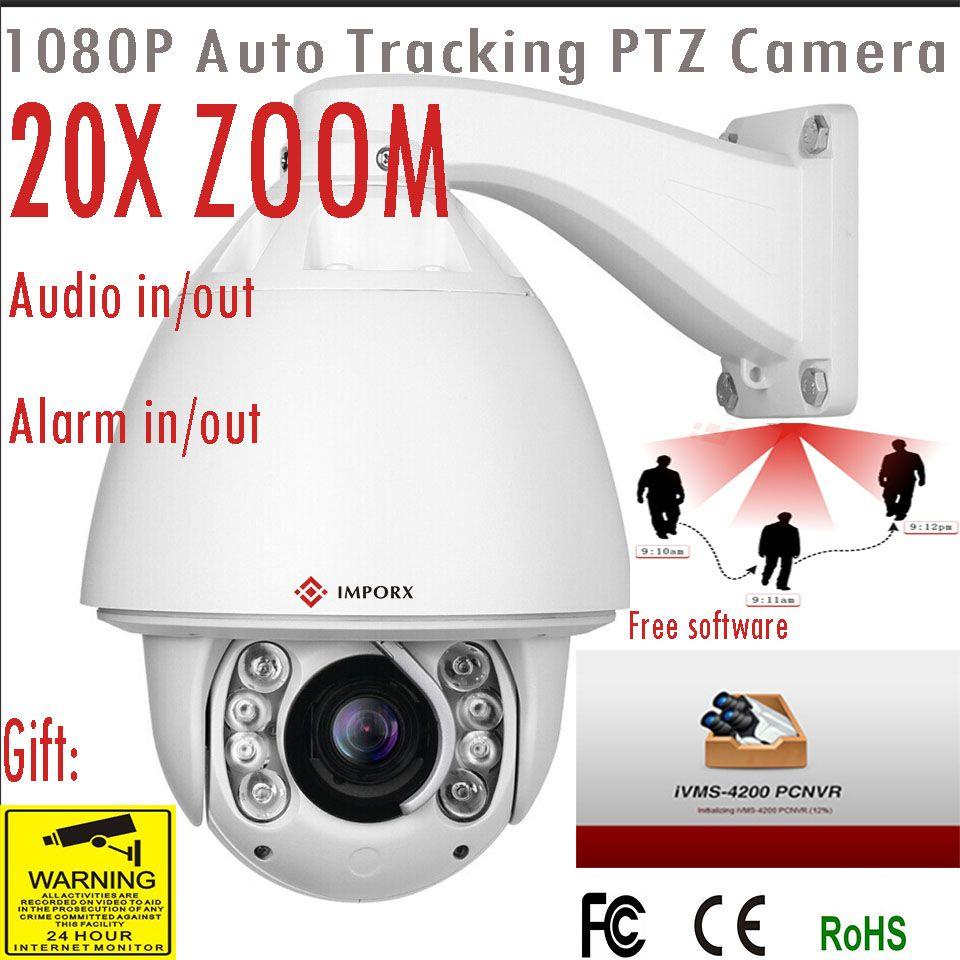 IMPORX 20X 1080p auto track ptz camera support 160M IR