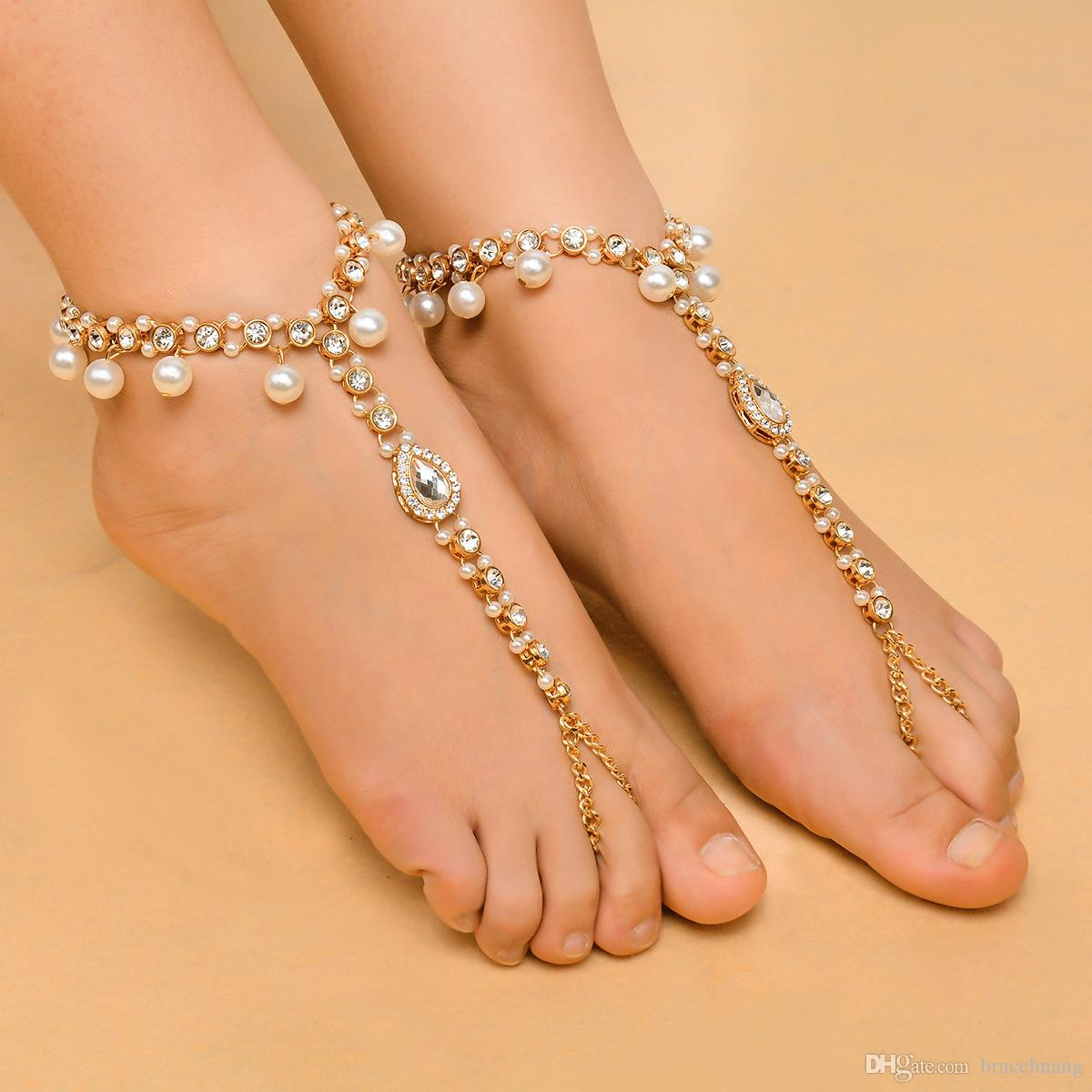 2019 Fashion Ankle Bracelet Wedding Barefoot Sandals Beach Foot Jewelry Sexy  Pie Leg Chain Female Boho Crystal Anklet From Brucehuang 6c64d892fa63