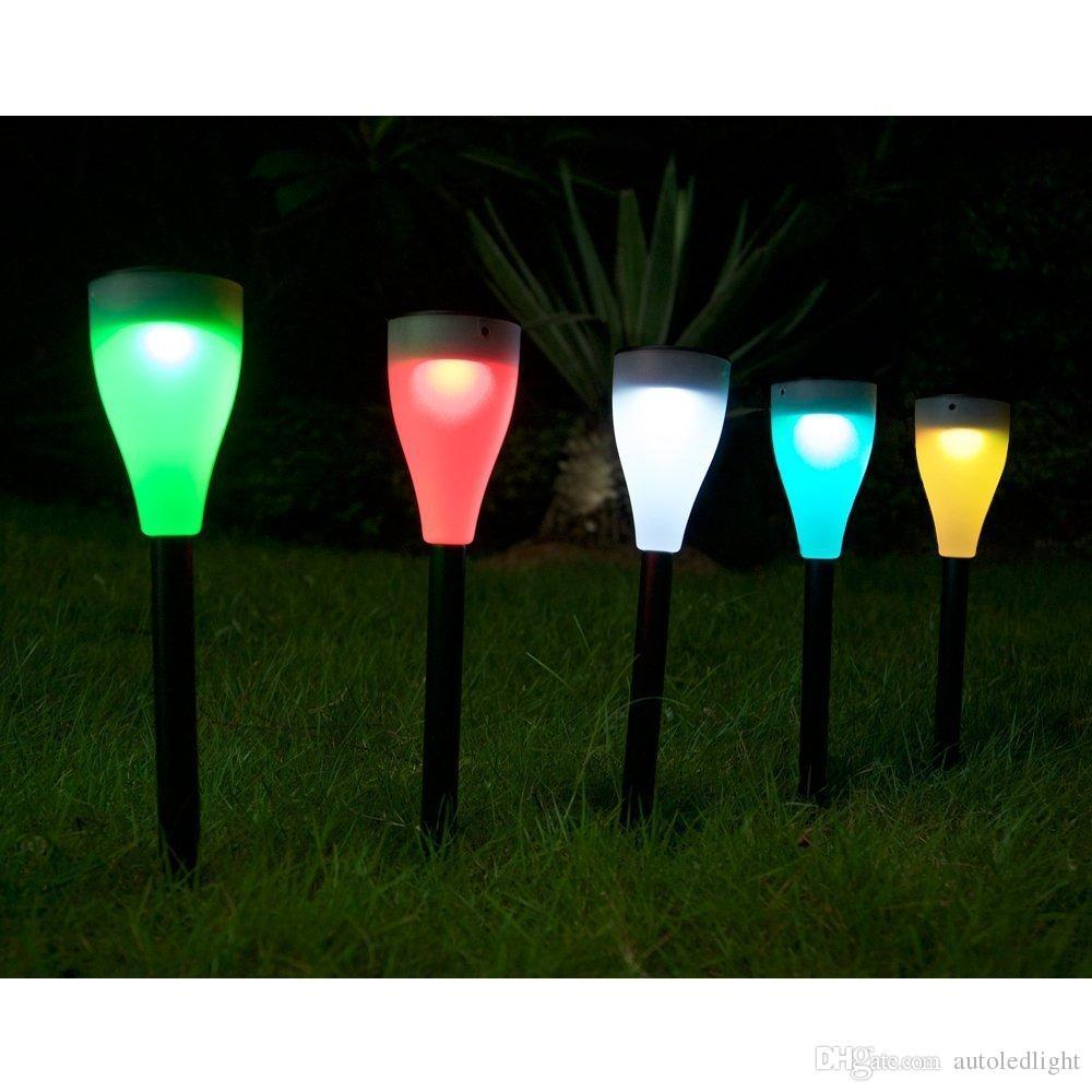 Solar Landscape Lighting for home garden Changing LED Lawn lamp Garden Landscape Path Pathway Lights Christmas Decoration Lights