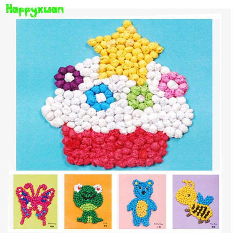 Happyxuan Creative1416cm DIY Handmade Crumpled Paper Ball Craft Kits Early Learning Toys For Kids Art Tissue Online