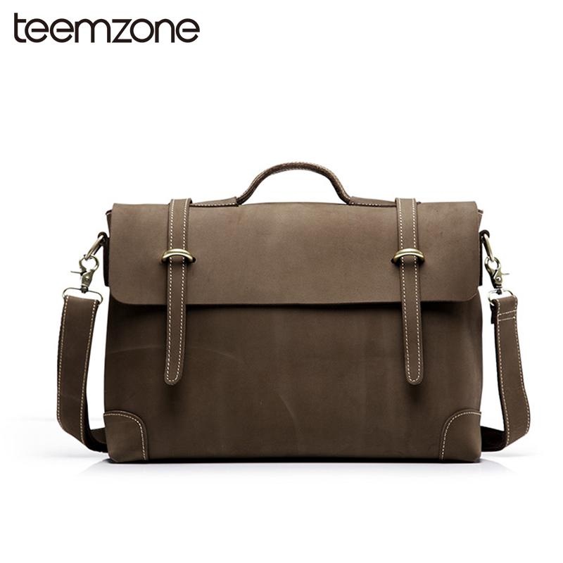 a88cf5925284 Wholesale Trend New Sell Men S Crazy Horse Genuine Leather Vintage Laptop  Briefcase Messenger Shoulder Attache Portfolio Tote Bag T0780 Leather  Satchel ...