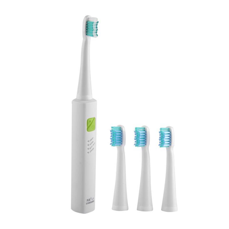 LANSUNG UiTrasonic Sônica Escova De Dentes Elétrica Recarregável Tooth Brushes Com Cabeças de Substituição Lansung U1 escova de dentes 1202001