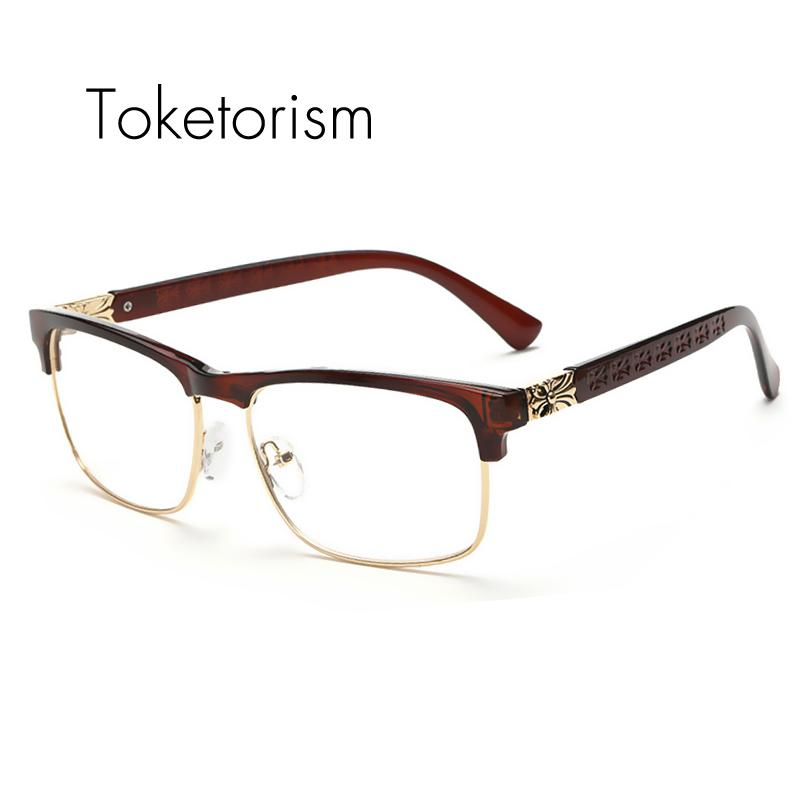 a08cfbb81a 2019 Wholesale Toketorism Latest Trend Cross Eye Glasses Frames For Women  UV400 Men Chrome Retro Eyeglasses W808 From Duweiha
