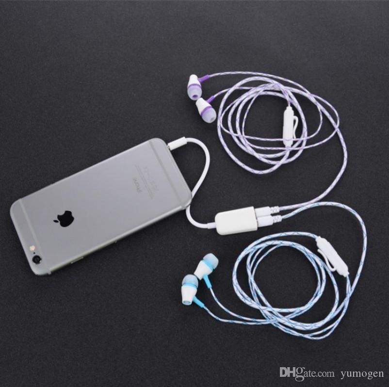 3.5mm Jack 1 In 2 Out Splitter Earphone Aux Cable Headphones Mobile Phone Plug Headset One In Two Couples for Audio Line