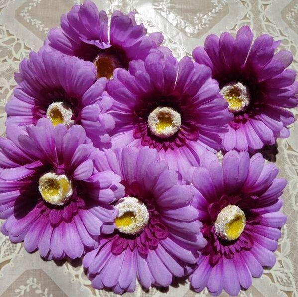 10cm Large Silk Gerbera Artificial Flower Head For Wedding Car Decoration DIY Garland Decorative Floristry Flowers G625