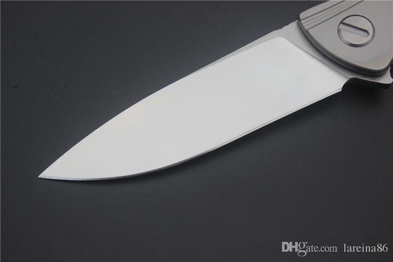 VESPA Neon pocket knife ceramic ball bearing D2 titanium flipper folding knife outdoor EDC camp Kitchen hunting Utility Tactical knife