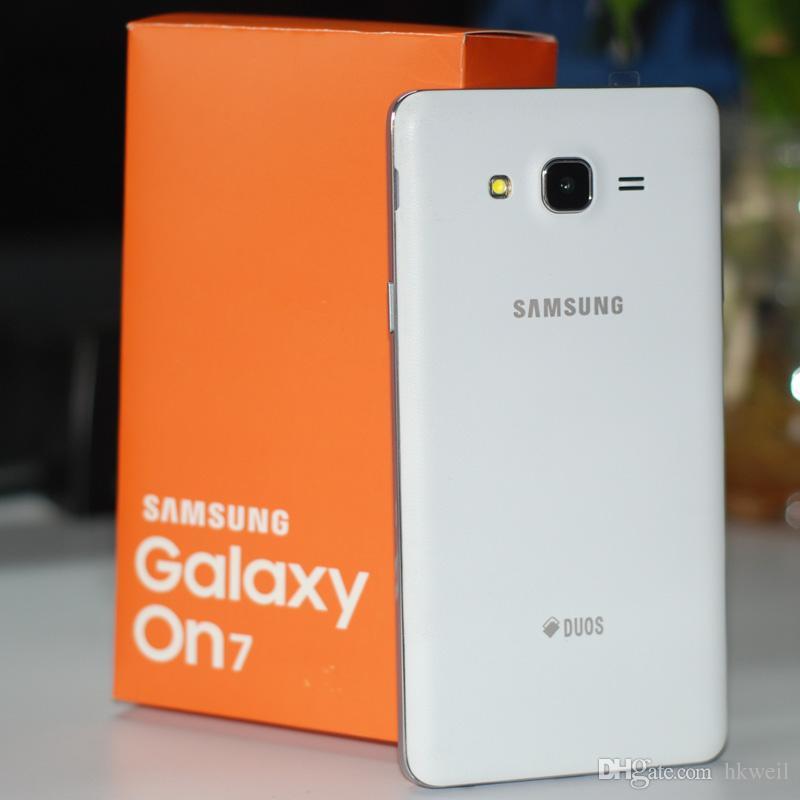 Recuperado Samsung Galaxy On7 G6000 telefone celular Quad Core 5.5Inch 1280 * 720 da tela Dual Sim 16G / 8G ROM 13.0MP