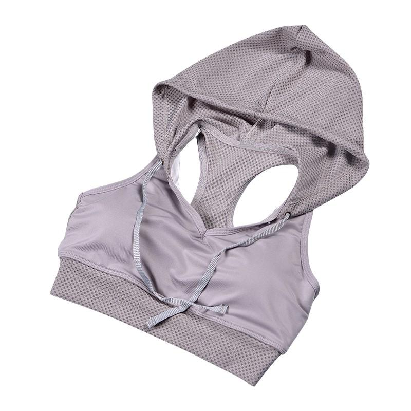 90401a92cc 2019 Wholesale 2017 Women Shockproof Hoodie Sports Bra Gym Yoga ...